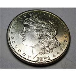 1881 S BU PL Morgan Silver Dollar