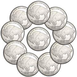 (10) 1 oz Buffalo Silver Rounds