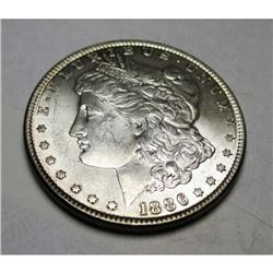1886 P BU Morgan Silver Dollar