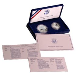 1986 Statue of Liberty 2 coin Set