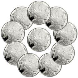 (10) 1 oz Silver Buffalo Rounds
