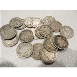 (20) Barber Dimes - 90% Silver AG-G