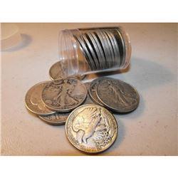 (20) Walking Liberty Half Dollars  in roll tube