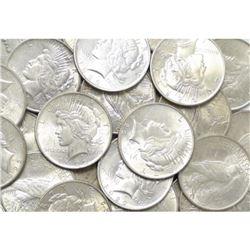 (10) 1922-23 BU Grade Peace Dollars