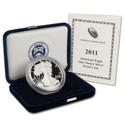 2011 US Silver Eagle Proof inn Mint Package