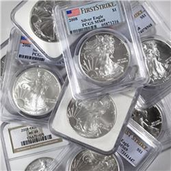 (10) US Silver Eagles- MS 69 PCGS-NGC