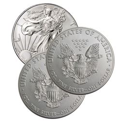 (3) US Silver Eagles - Random Dates