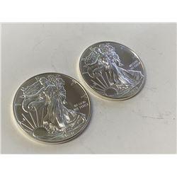 (2) 2020 US Silver Eagles -