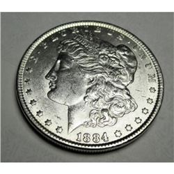 1884 P BU Grade Morgan Silver Dollar