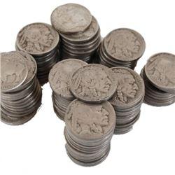 50 pcs. Readable Date Buffalo Nickels