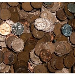Lot of (1000) Wheat Cents - Unsearched!