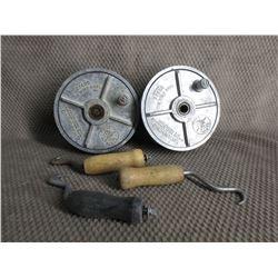 2 Tie Wire Reels & 3 Bar Loop Spinners