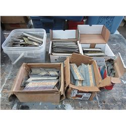 Large Tote of Various Nails & Staples for Air Guns