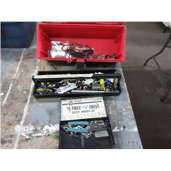 Tool Box with Cable TV Items