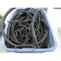 Tote of Various Sizes of Wire Loom