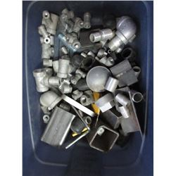 Tote of Metal & Galvinized Fittings