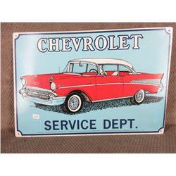 Chevrolet Service Dept. Sign