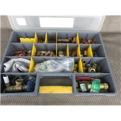 Parts Box of Copper & Brass Plumbing Supplies
