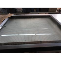 NEW - 24 X 30 Bevel Frame Door Window with Wired Fire Glass