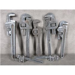 7 Vintage Pipe Wrenches
