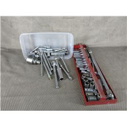 Selection of Various Ratchets, Bars & Sockets