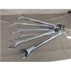 Set of 6 Large Wrenches 1 3/8, 1 1/2, 1 5/8, 1 3/4, 1 7/8, 2