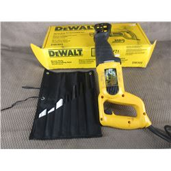 Dewalt Sawsall Model DW303 with Selection of Blades