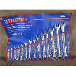 "Westward 3/8"" to 1 1/4"" Combination Wrench Set"