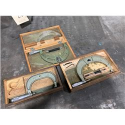 Lot of (3) Micrometers