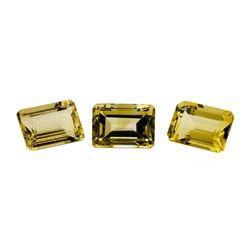 24.04 ctw.Natural Emerald Cut Citrine Quartz Parcel of Three