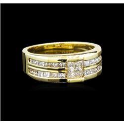 14KT Yellow Gold 1.64 ctw Diamond Ring