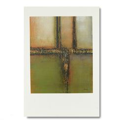 "Joel David Holsinger, ""Horizon Metro Lights I"" Original Mixed Media Painting, Ha"