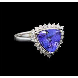 14KT White Gold 2.78 ctw Tanzanite and Diamond Ring