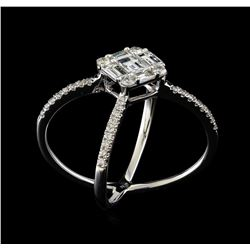 1.07 ctw Diamond Ring - 18KT White Gold