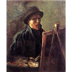 Van Gogh - Self-Portrait With Dark Felt Hat At The Easel