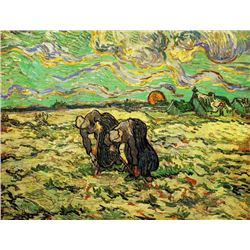 Van Gogh - Two Peasant Women Digging In Field With Snow