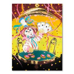 "Paul Blaine Henrie (1932-1999), ""Poker Face"" Hand Signed Original Painting on Ca"
