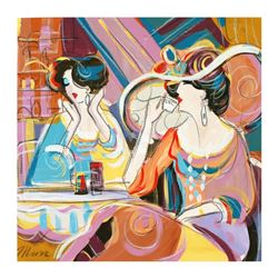 "Isaac Maimon, ""Special Encounters"" Original Acrylic Painting, Hand Signed with C"