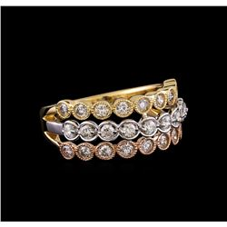 1.05 ctw Diamond Ring - 14KT Yellow, White, And Rose Gold