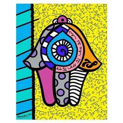 Hamsa Yellow Down by Britto, Romero