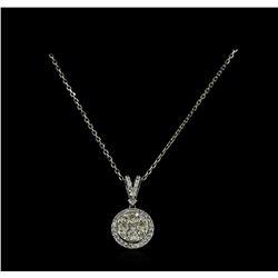 0.79 ctw Diamond Necklace - 14KT White Gold