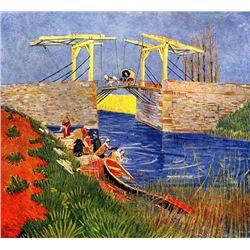 Van Gogh - The Langlois Bridge At Arles With Women Washing