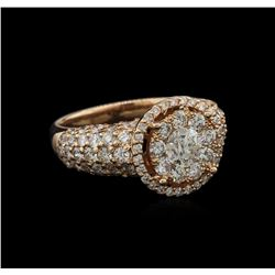 3.01 ctw Diamond Ring - 14KT Rose Gold
