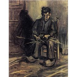 Van Gogh - Peasant Making A Basket