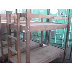 30 INCH X 7 FT HOMEMADE BUNK BEDS CABIN STYLE DOUBLE