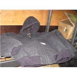 CARHARTT 2XL BLACK HOODED JACKET