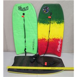 """Qty 3 Boogie Boards: Morey, Maui & Sons & Other 36"""" Long"""