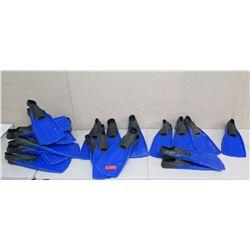 Qty 18 Sea Sports Fins: 1 XS, 4 Small, 5 Medium, 8 Large