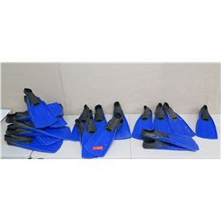 Qty 18 Sea Sports Fins: 1 XS, 4 Small, 5 Medium, 8 Large
