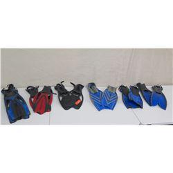Qty 12 Swim Fins: US Divers Pacific, Phantom Aquatics, etc